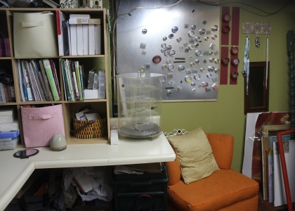 A Craft Room Rediscovered - I found a chair in there!