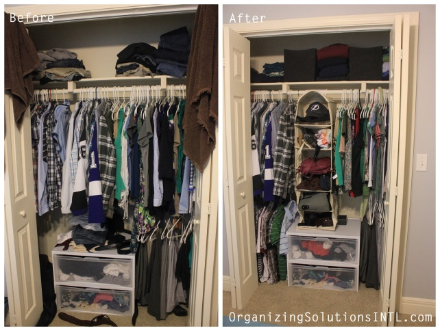 Organizing For Every Room!- before and after organized closet