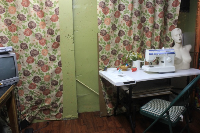 A Craft Room Rediscovered Part 3 - organized sewing corner