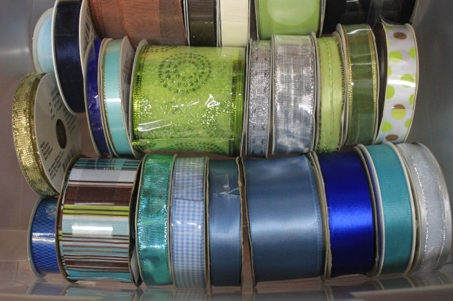 A Craft Room Rediscovered Part 4 - organized ribbon drawer