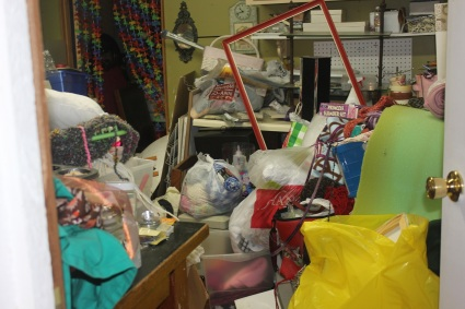 craft room rediscovered - messy craft room