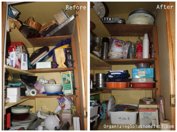 Tupperware and Troubled Corners - Organized Corner Shelving Before and After