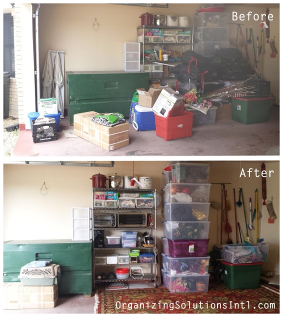 Organizing Garage Storage - Organized Garage Before and After