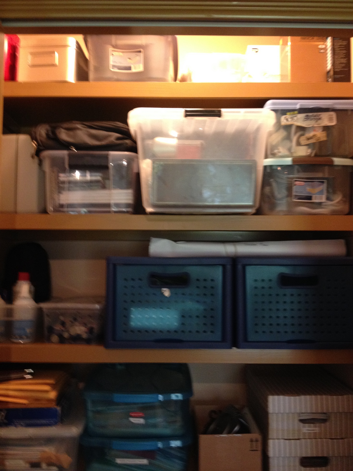 office closet organizers. purging outdated technology in a home office closet organized top view of organizers