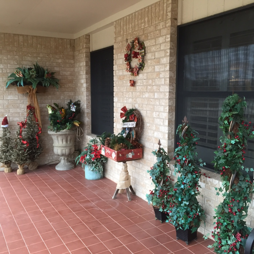 Glitzy Christmas Wonderland- Front Porch
