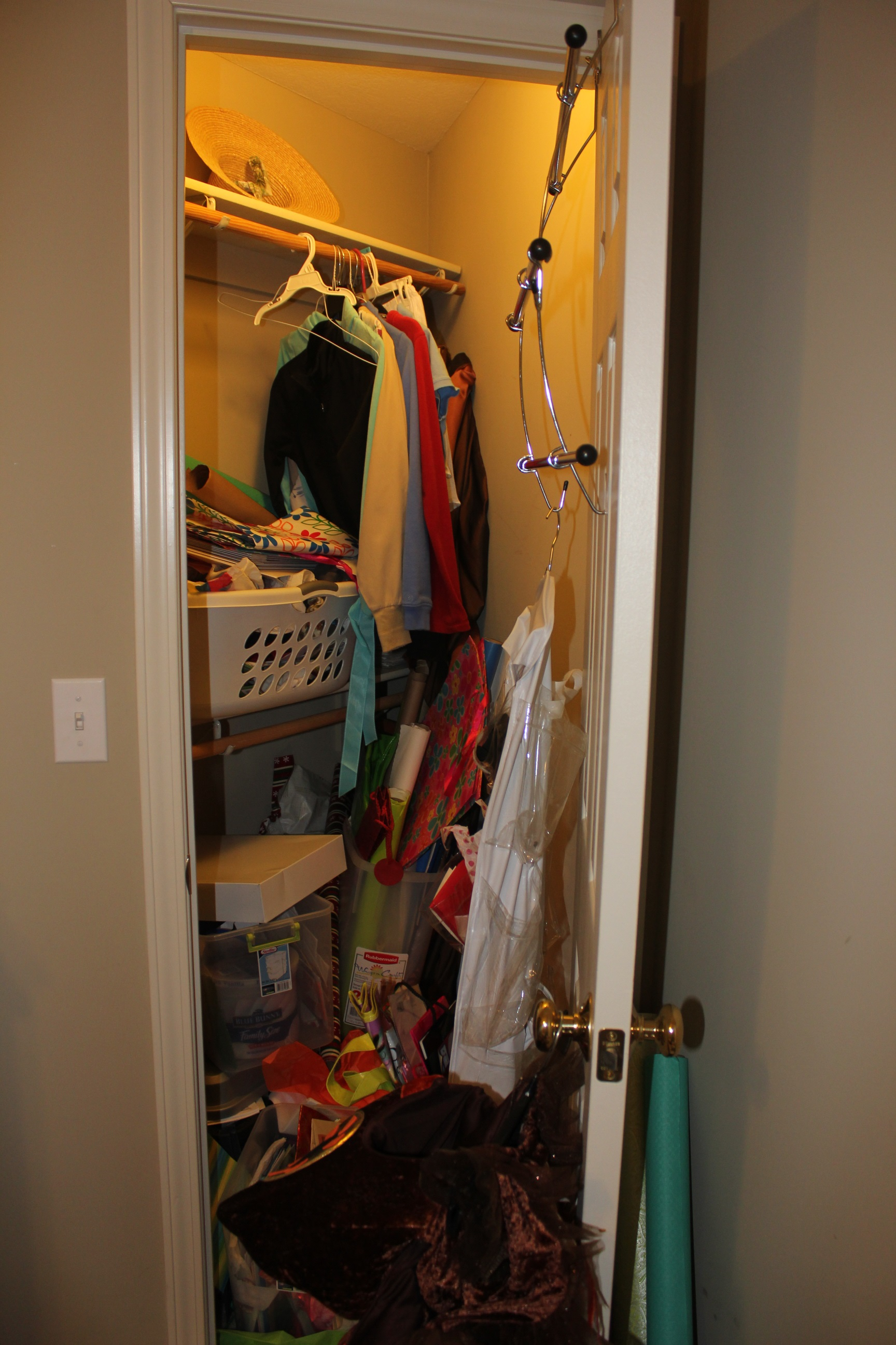 Congested Closet Turned Creative Corner  Messy Closet