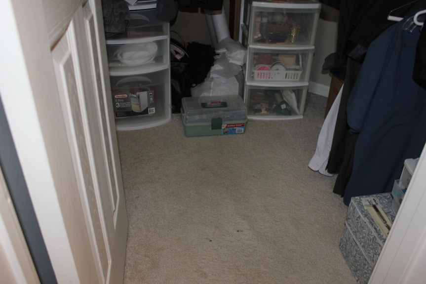 Congested Closet Turned Creative Corner - organized craft closet