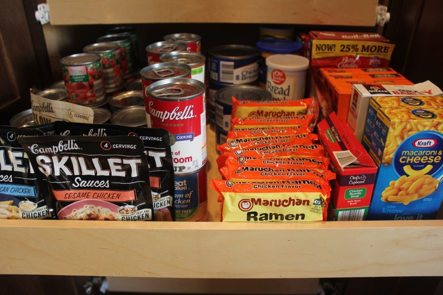 A Maximized Pantry - close up of organized pantry