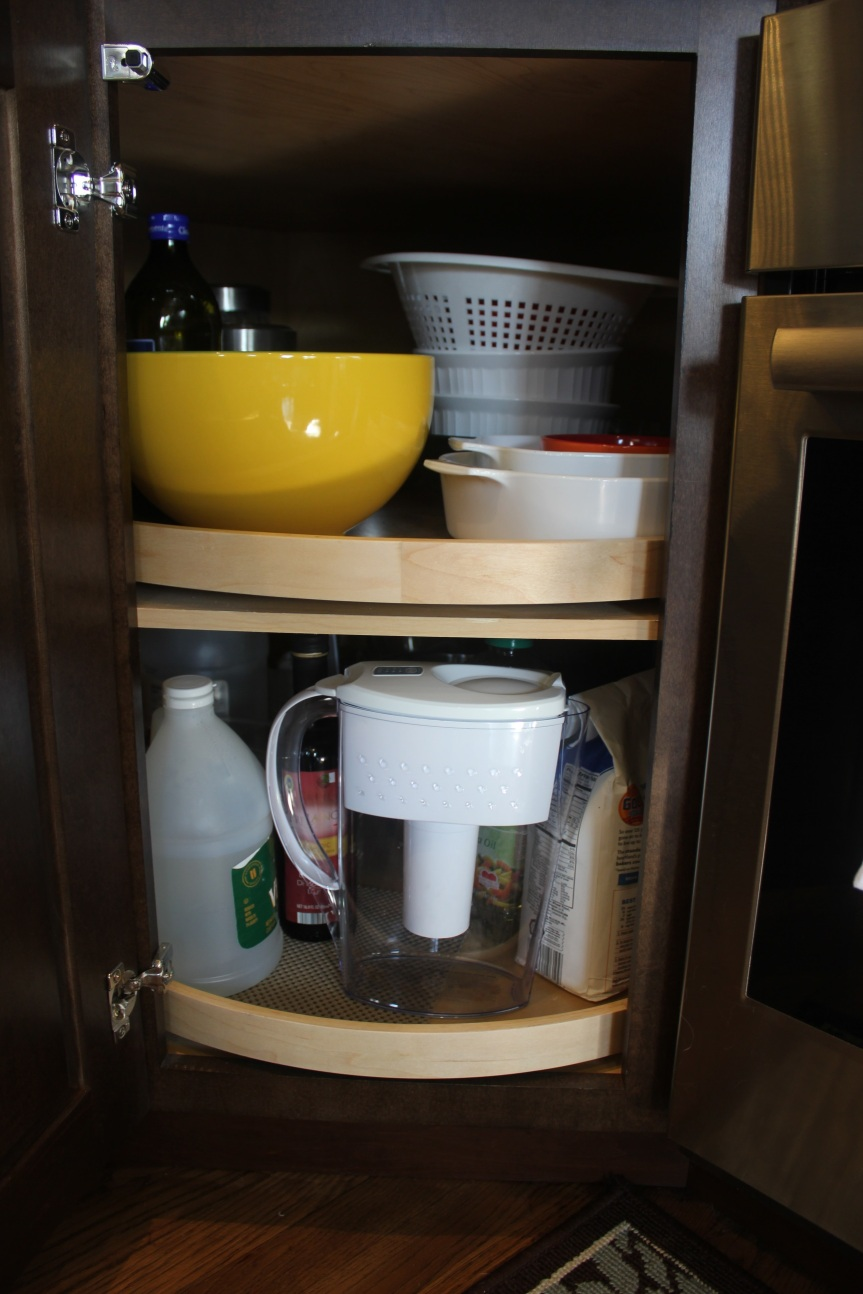 A Maximized Pantry - congested lower corner cabinet