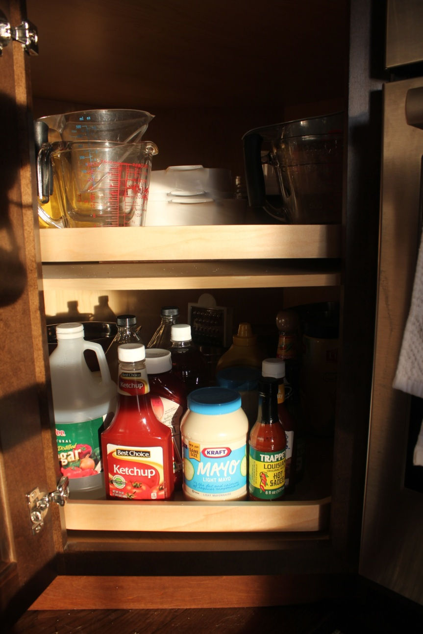 A Maximized Pantry - organized bottom corner pantry
