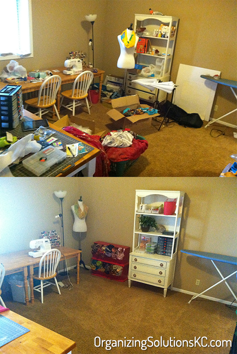 A Sewing Room - Before and After