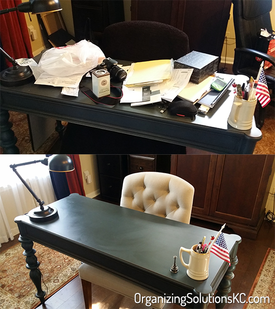 Catch All Home Office - Before and After 1