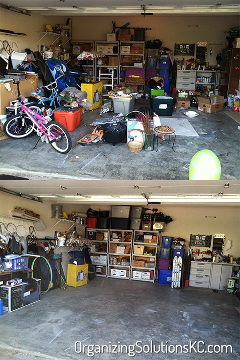 Cluttered Garage - Before and After