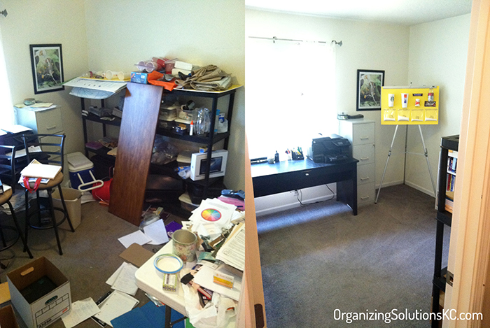 Dumping Ground Home Office - Before and After